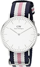 Comprar Daniel Wellington - Reloj analógico para mujer de nailon blanco