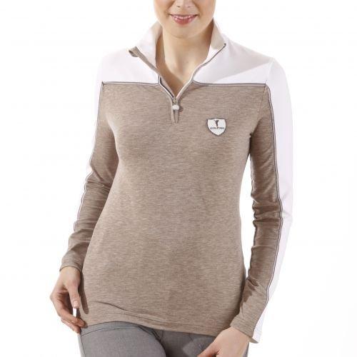 golfino-jersey-de-mezcla-de-jersey-mujer-blanco-marron