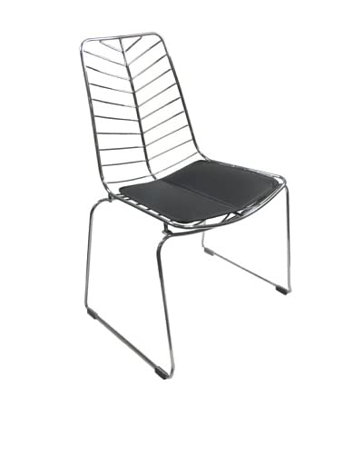 Fine Mod Wire Leaf Chair, Black