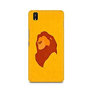 Mobicture Lion Abstract Premium Printed Case For OnePlus X