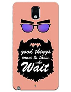 myPhoneMate Good Things Come To Those Wait - Beard case for Samsung Galaxy Note 3