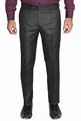 Legato Men's Formal Pant(LEG1004-XXL_Black_38)