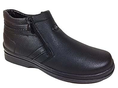 Amazon.com: Men Winter Cold Weather Snow Ankle Boots Faux