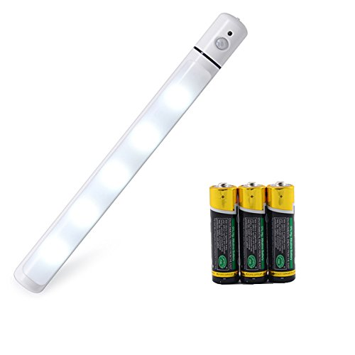 AnSaw Rotating 5 LED Motion Sensor Light Battery Powered Sensing Night Light with Magnetic Strip Stick On Anywhere 3AA (included) (1-Pack) (Refrigerator Motherboard compare prices)