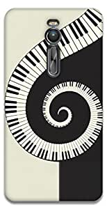 The Racoon Lean Piano Swirl hard plastic printed back case / cover for Asus Zenfone 2 ZE551ML