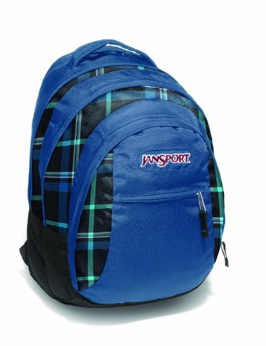 JanSport Rucksack Beamer, blue streak/black/blue streak perry plaid, 48x31x24 cm, 32 Liter, TPZ6_8WB