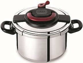 Autocuiseur SEB Clipso + P4371406 8L : 6 à 8 personnes - 2 programmes de cuisson - Panier vapeur - Ouverture/fermeture ultra facile - Poignées rabattables - Tous feux dont induction