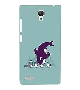 EPICCASE Penguins fun Mobile Back Case Cover For Xiaomi Redmi Note 4G (Designer Case)