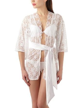 Baci - Négligé - Femme - Blanc - Taille Unique