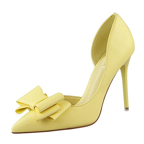 ivan-womens-elegance-cute-bowknot-breathable-leather-thin-high-heel-shoes37-m-eu-65-bm-us-yellow