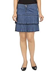Ursense Women's Light Blue Skirts-28