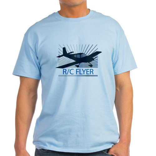 CafePress RC Flyer Low Wing Airplane Light T-Shirt – L Light Blue