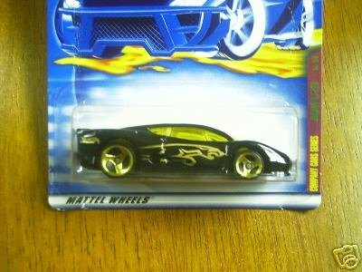 Mattel Hot Wheels 2001 1:64 Scale Black Jaguar XJ 220 Die Cast Car #085
