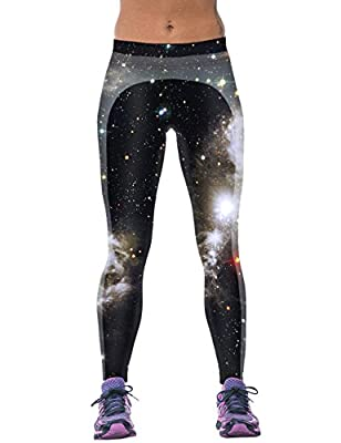 Ninimour-Womens High Waist Digital Print Slim Fit Tight Leggings