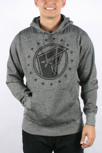 Famous Stars and Straps - Mens Action Pullover Hoodie in Charcoal Heather, Size: Medium, Color: Charcoal Heather