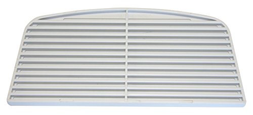 GE Part Number WR17X4153 GRILLE RECESS WHITE