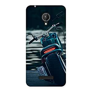 Stylish Bike Chopper Multicolor Back Case Cover for Micromax Canvas Spark Q380