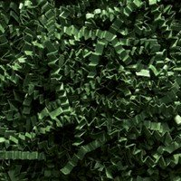Crinkle Cut Paper - Shredded Paper - Gift Basket Supplies - Basket Fillings- Color: Forest Green - 1lb (16 oz)