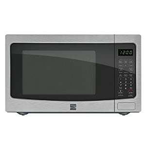 Kenmore 1 2 Cu Ft Countertop Microwave W Ez Clean Interior Stainless Steel 72123 More 400