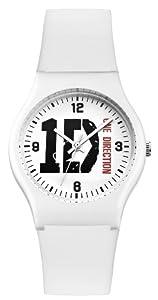 One Direction Mädchen-Armbanduhr Analog plastik weiss ON004WHOD
