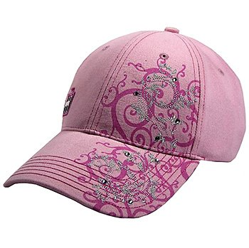 IH Women's Solid Pink Fashion Cap w/ Liquid Metal