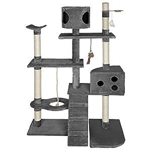 TecTake® Kratzbaum Deluxe Spielparadies grau 167cm