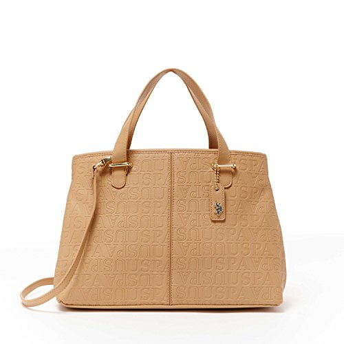 us-polo-assn-designer-handbags-womens-heather-embossed-carryall-bag-tan-multiple-color-available