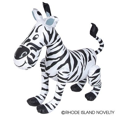 INFLATABLE ZOO ZEBRA- SET OF THREE- 24'' ZOO Animal JUNGLE Pool Birthday Beach Parties FAVOR DECOR GIVEAWAY PRIZE