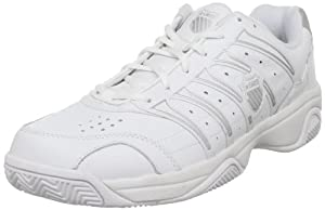K-Swiss Men's Grancourt II Tennis Shoe,White/Silver,10.5M