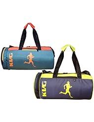 KVG Combo Gym Bag Pack Of 2 - B01LNV12M4