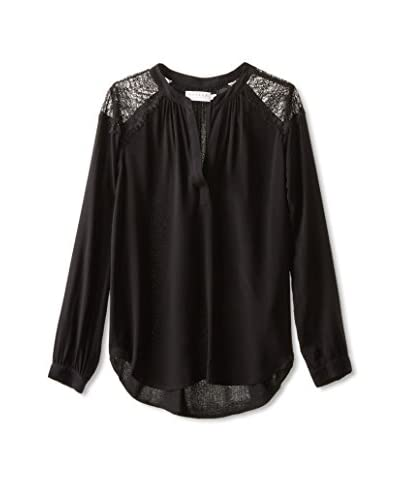 Velvet by Graham & Spencer Women's Challis Top with Lace