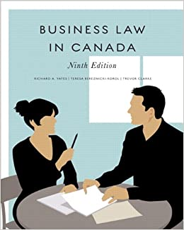 business law in canada yates pdf