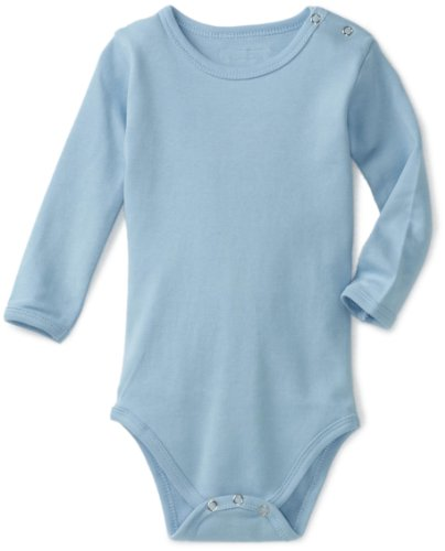 L'Ovedbaby Unisex-Baby Newborn Long-Sleeve Bodysuit, Blue, 18-24 Months back-864074