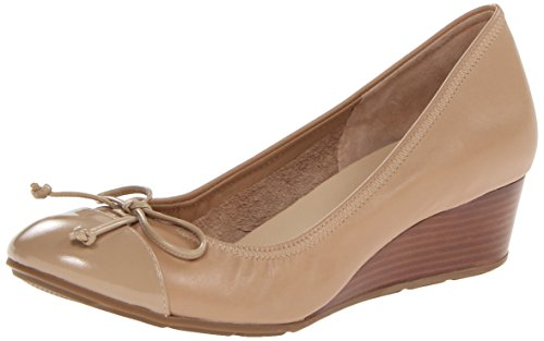 Cole Haan Women's Air Tali Lace Wedge,Sandstone/Sandstone Patent,8  B US (Cole Haan Wedge Nike Air compare prices)