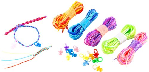 Playtastic Scoubidou Bastelset mit 50 Knüpfbändern und 12 Schnullern