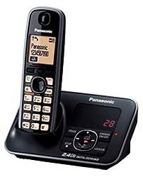 Panasonic Single Line 2.4GHz KX-TG3721SXB Digital Cordless Telephone (Black)