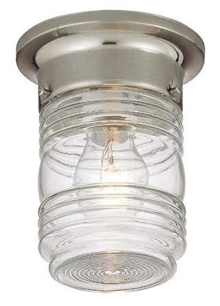 hardware house 54 4700 jelly jar one light outdoor flush. Black Bedroom Furniture Sets. Home Design Ideas