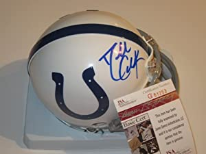 Dallas Clark Indianapolis Colts Signed Autographed Mini Helmet Authentic Certified...