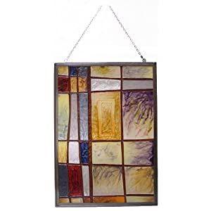 Newview 1849 C Mixed Intervals Stained Glass, Rectangular Center