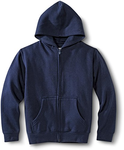French Toast School Uniform Boys Girls Unisex Hooded Sweatshirt Hoodie - P9104 - Navy, Small front-993362