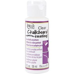 DecoArt Clear Chalkboard Coating, 2-Ounce