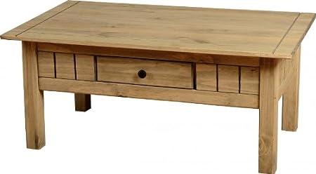 Panama 1cassetto tavolino in cera naturale