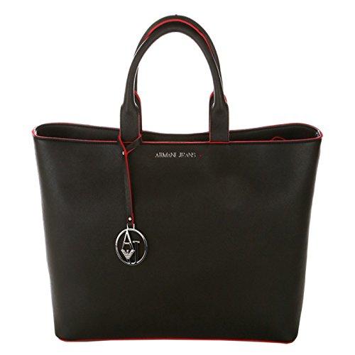 ARMANI JEANS donna borsa shopping 922535 CC856 00120 NERO UNICA Nero
