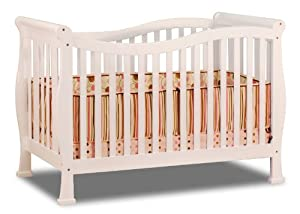 Athena Nadia 3 in 1 Crib with Toddler Rail, White