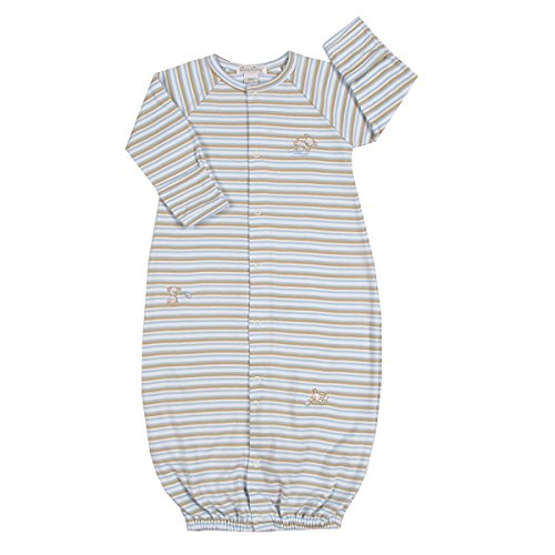 Kissy Kissy - Pouncing Puppy Stripe Converter Gown-Newborn front-1022296