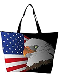 Snoogg Flag Background With Eagle Waterproof Bag Made Of High Strength Nylon