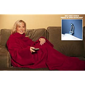 The Snuggie Blanket w/ Free Booklight - Burgundy Color