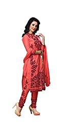 Krishna Fashion Women's Cotton Unstitched Dress Material (hari 1306_Light Orange_Free Size)