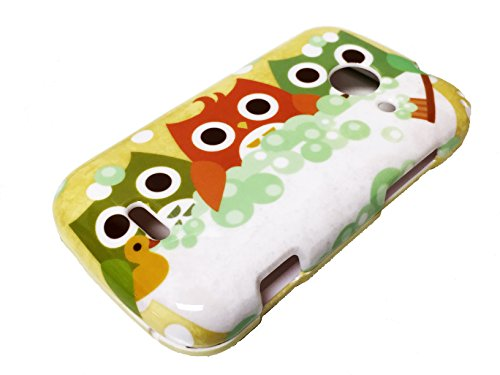 For ZTE Z667 Zinger Prelude 2 Whirl 2 Z667G Hard Phone Cover Hard Faceplate Case Accessories + Happy Face Phone Dust Plug (Bath Owl) (Phone Cases For Model Z667g compare prices)