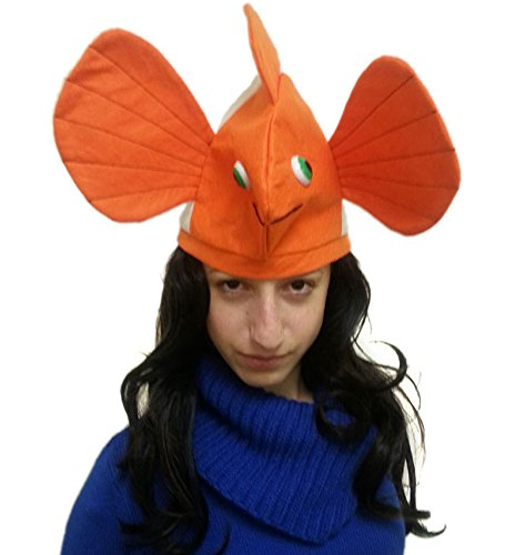 Stuffed Plush Clown Fish Hat - Costume Clown Fish Hat Ala Nemo